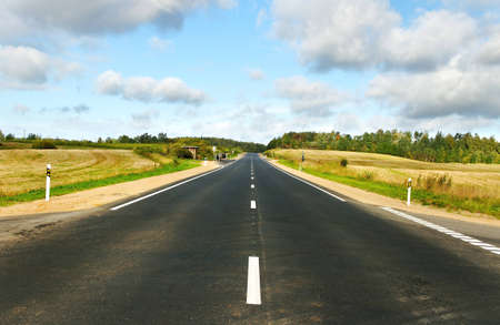 Natural asphalt road, horizontal photo Stock Photo - 12404439