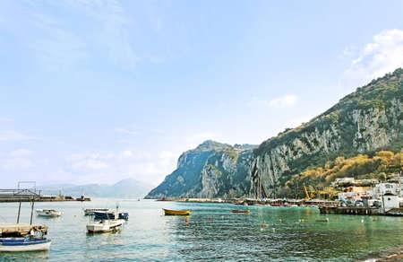View to the mountains from Capri coast Stock Photo - 12404436