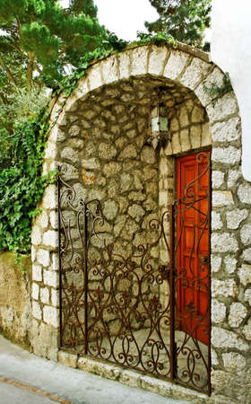 Private entrance on street of the Capri island  photo