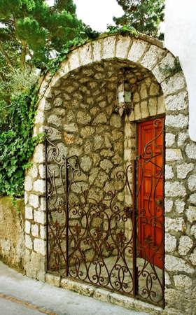 Private entrance on street of the Capri island  photo