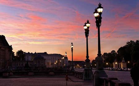 Nuit à Bruxelles au Palais Royal Banque d'images - 12862120