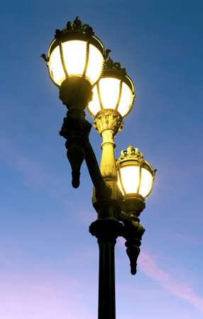 lampe: Street lamps at the Royal palace of Brussels