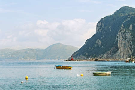 Boats on water at the Capri island in Italy Stock Photo - 12862338