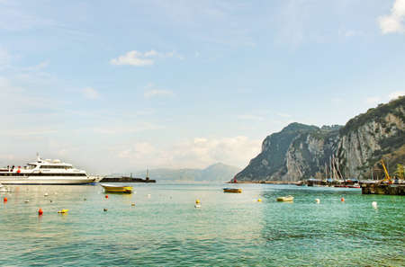Boats and ship above water at the Capri island  Stock Photo - 12862332