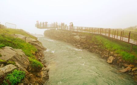 sightseeng: On  sightseeng top in a rainy day, Norway