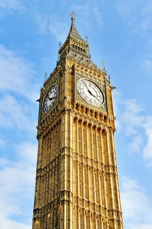 Big Ben in a sunny day. Stock Photo