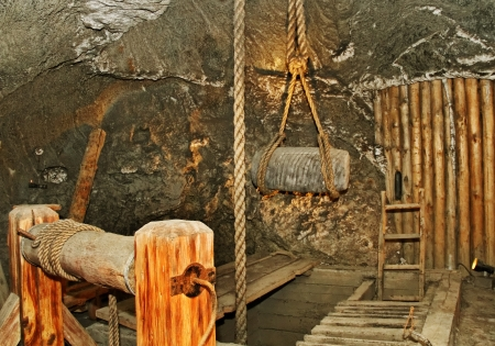 Museum in Wieliczka salt mine  Stockfoto