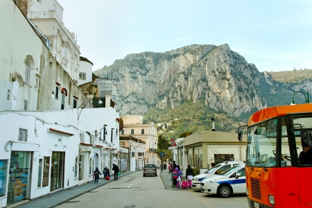On street of Capri island  Stock Photo