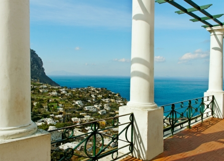 View to the sea from Capri island  Stock Photo