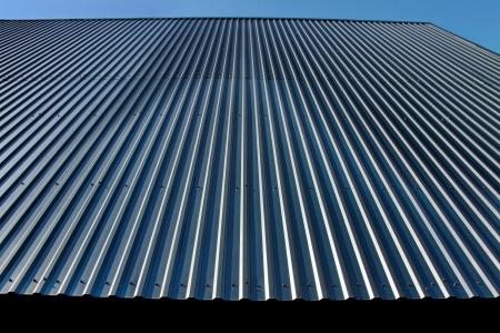 Metalen dak is een goede bescherming Stockfoto