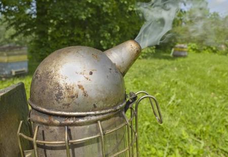 fumigador: Fumigador fuera Foto de archivo