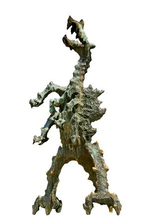 Dragon de Wawel isolé sur la surface blanche Banque d'images - 14578126