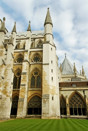 View to the Westminster abbey from yard  photo