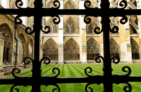 View to the Westminster abbey from yard side  photo
