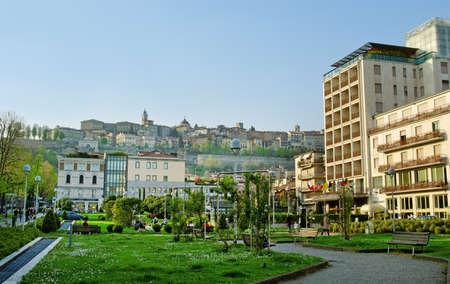 Center of Bergamo city, Italy