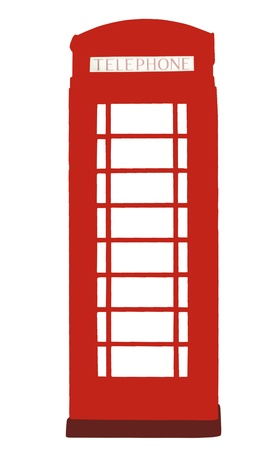 phonebooth: Abstract phone box isolated on the white. Stock Photo