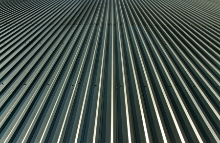 Metal roof surface