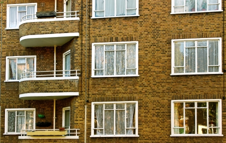 Typical  london houses in England   photo