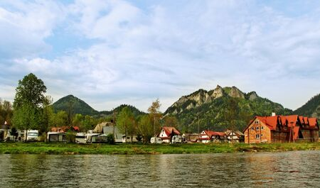 View to the campings at the Pieniny mountains  photo