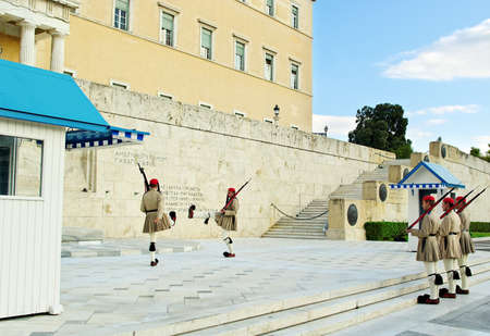ATHENS,GREECE - OCTOBER 8  Presidential guard change on October 8, 2010 in Aathens, Greece  Stock Photo - 16322985