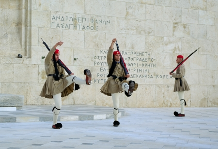 ATHENS,GREECE - OCTOBER 8  Presidential guard change on October 8, 2010 in Aathens, Greece  Stock Photo - 16322984