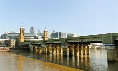 thames: London bridge over River Thames  Stock Photo