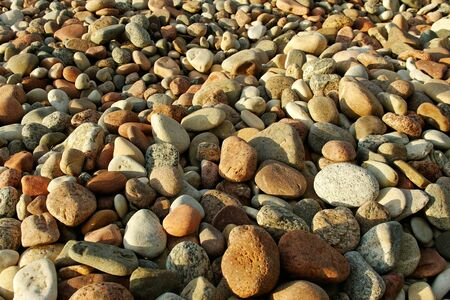 pebblestone: Natural pebblestone on the coastline