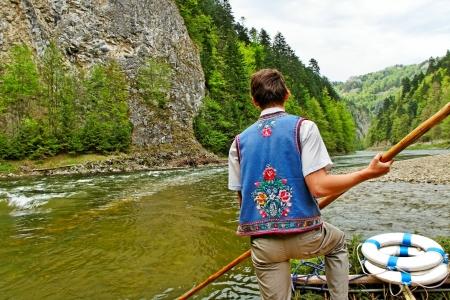 Dunajec rivier tussen Slowakije en Polen