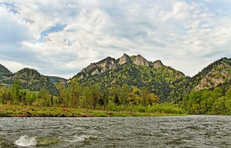 Dunajec river between Slovakia and Poland  photo