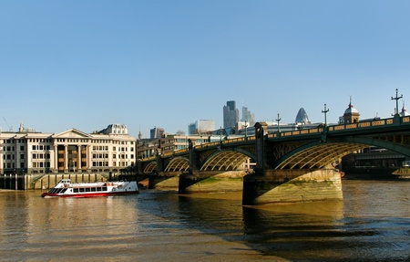 View to the Southwark bridge in London  Stock Photo - 18535356