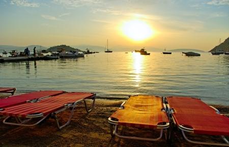 Holiday at the Aegean sea  Stock Photo