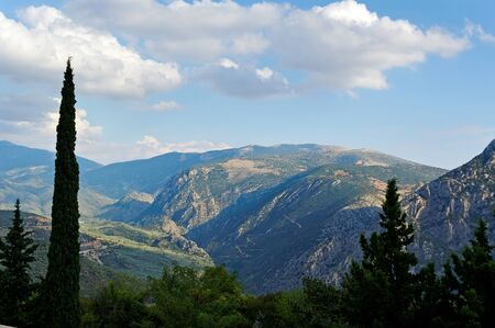 Mountain landscape in Greece, Delfi district  photo