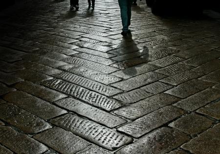 arcane: On the street after rain  Stock Photo