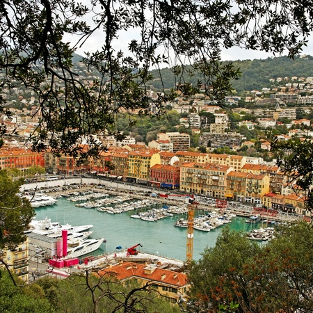 View to the town of Nice  photo