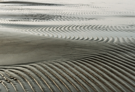 Wet sand surface at the sea  photo