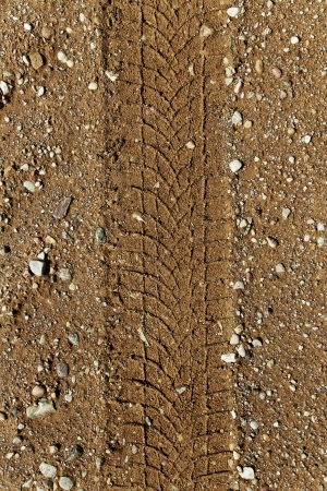 Wheel track on country road  photo