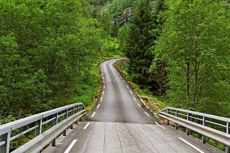 autobahn: Road with bridge in the Norway