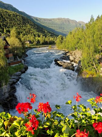 riverbed: Mountain river in the Norway