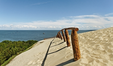 The Curonian Spit, Baltic dune. photo