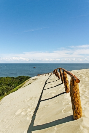 spit: The Curonian Spit, Baltic dune.
