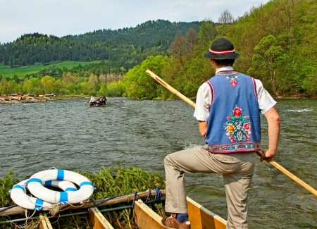 Dunajec river between Slovakia and Poland. photo
