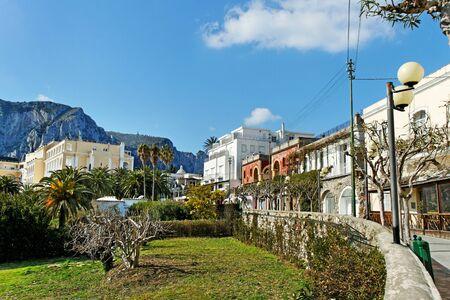 Capri street in a spring season.  photo