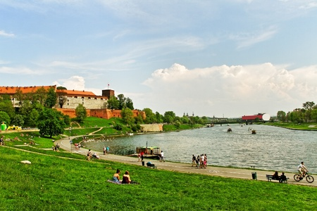 cracow: Wawel Castle  in Cracow, Poland.