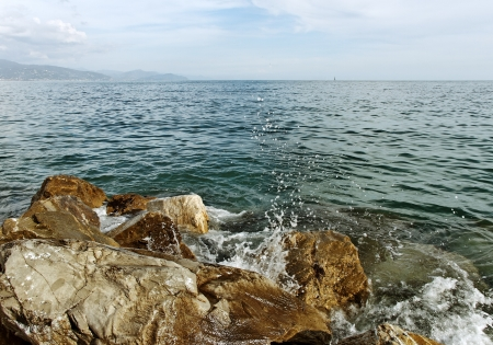 At the Mediterranean sea in Monterosso. photo