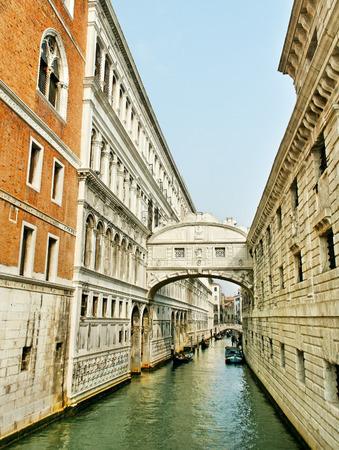 doges  palace: Bridge of Sighs at Doges Palace, Venice, Italy. Stock Photo