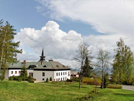 stary: High Tatras with stone footpath