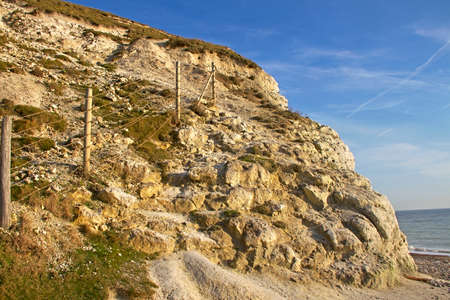 seven sisters: Coast at the Seven sisters cliff, English Channel, UK. Stock Photo