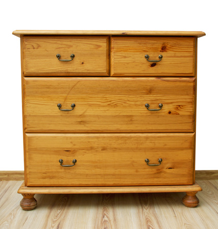 Aged chest of drawers into new flat.