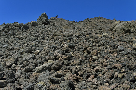 Volcanic rock on Etna, Italy. photo