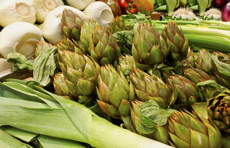 Fresh vegetable on the market in Italy. photo